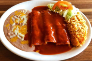Thumb cheese enchilada plate